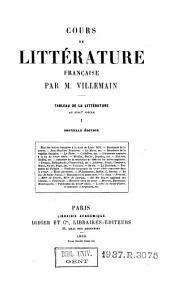 Cours de littérature française: tableau de la littérature au XVIIIe siècle, Volume1