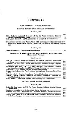 Department of Defense Authorization for Appropriations for Fiscal Year 1999 and the Future Years Defense Program  Strategic forces PDF