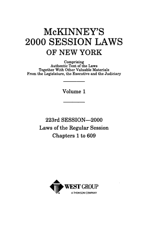 McKinney s Session Laws of New York