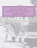 Study Guide for Busn 235