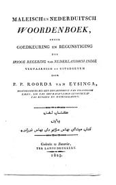 Maleisch en Nederduitsch woordenboek
