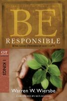 Be Responsible  1 Kings  PDF