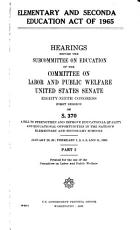Elementary and Secondary Education Act of 1965 PDF