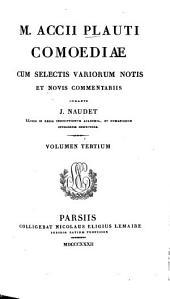 Comoediae: Poenulus Truculentus, Volume3