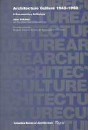 Architecture Culture, 1943-1968