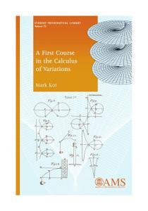 A First Course in the Calculus of Variations PDF