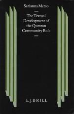 The Textual Development of the Qumran Community Rule