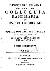 Colloquia familiaria: Volume 1