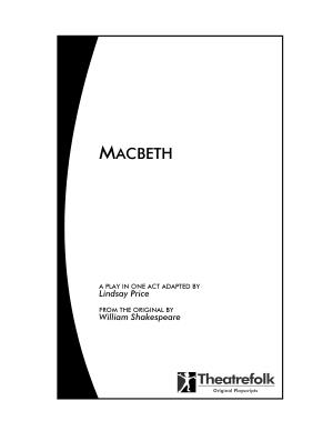 Macbeth   a Play in One Act