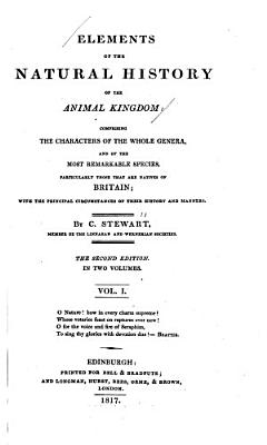 Elements of the Natural History of the Animal Kingdom