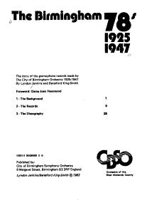 The Birmingham 78 s  1925 1947 PDF