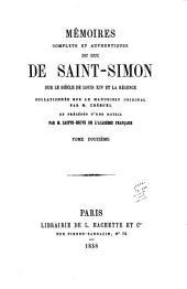 Mʹemoirs complets et authentiques du duc de Saint-Simon sur le siècle du Louis XIV et la rʹegence: Volume12