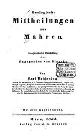 Geologische Mittheilungen aus Mähren: geognostische Darstellung der Umgegenden von Blansko