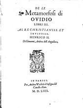 Le Metamorfosi di Ovidio libri 3
