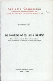 Das prophetische Amt der Laien in der Kirche