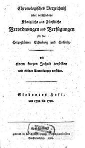 Chronologisches Verzeichniß über verschiedene königliche und fürstliche Verordnungen und Verfügungen für die Herzogthümer Schleswig und Holstein: Band 7
