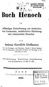 Das Buch Henoch: in vollständiger Uebersetzung mit fortlaufendem Commentar, ausführlicher Einleitung und erläuternden Excursen, Band 1