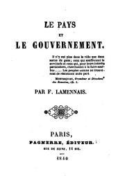 Le pays et le gouvernement