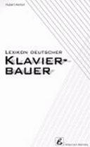 Lexikon deutscher Klavierbauer PDF