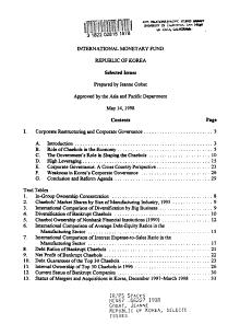 Republic of Korea  Selected Issues PDF