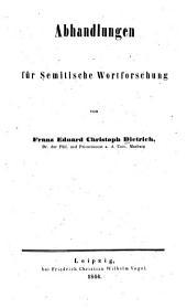 Abhandlungen für semitische Wortforschung