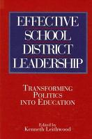 Effective School District Leadership PDF
