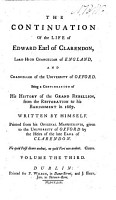 The Life of Edward Earl of Clarendon  Etc PDF