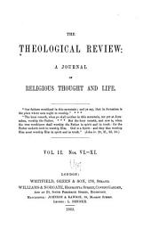The Theological Review: Volume 2