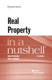 Real Property in a Nutshell: Edition 7