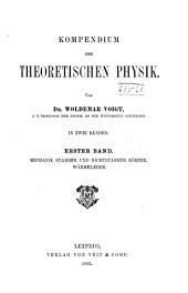 Kompendium der theoretischen Physik: Band 1