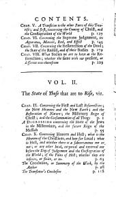 Of The State Of The Dead, And Of Those that are to Rise: In Two Volumes. ¬The Last Part, Volume 2