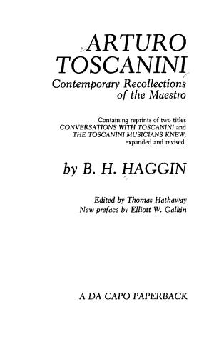 Arturo Toscanini PDF