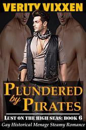 Plundered by Pirates (Gay Victorian): Gay Historical Menage First Time Romance