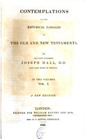 Contemplations on the Historical Passages of the Old and New Testaments PDF