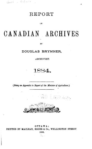 Download Canadian Archives Book
