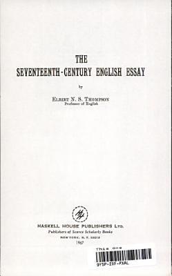 The Seventeenth Century English Essay