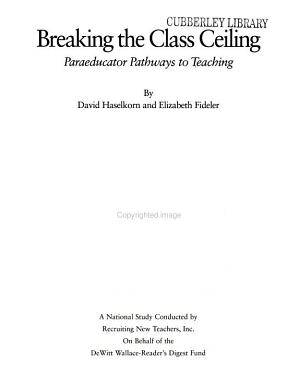 Breaking the Class Ceiling PDF