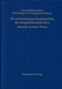 Die orientalischen Handschriften der Burgerbibliothek Bern PDF