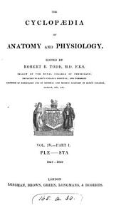 The Cyclopædia of Anatomy and Physiology: pt II. STA-WRI