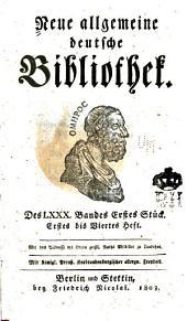 Neue allgemeine deutsche Bibliothek: Band 80