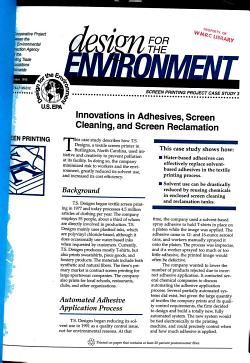 Design for the Environment Screen Printing Case Study 3 PDF