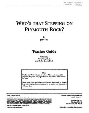 Who s that Stepping on Plymouth Rock  by Jean Fritz PDF