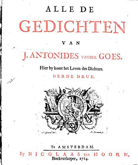 Alle de Gedichten van J  Antonides Van der Goes PDF