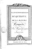 Historia de D  Quixote de la Mancha 2 PDF