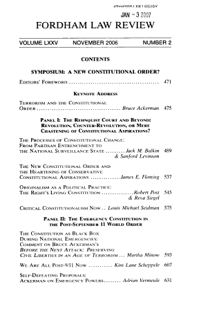 Symposium  a New Constitutional Order  PDF
