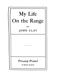 My Life on the Range PDF