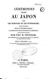 Cérémonies usitées au Japon pour les mariages et les funérailles: Volume1