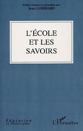 L'ÉCOLE ET LES SAVOIRS