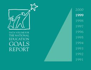 1999 Data Volume for the National Education Goals Report