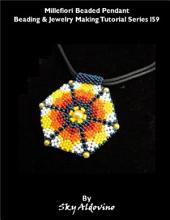 Millefiori Beaded Pendant Beading & Jewelry Making Tutorial Series I59